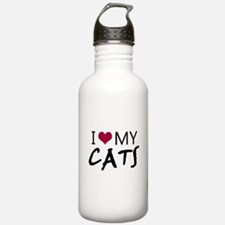 'I Love My Cats' Water Bottle