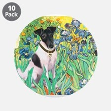 "Irises / T (#1) 3.5"" Button (10 pack)"