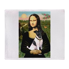 Mona's Smooth Fox Terrier (Bl Throw Blanket