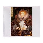 Queen/Fox Terrier (#S4) Throw Blanket
