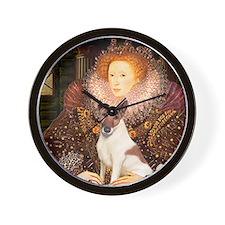 Queen/Fox Terrier (#S4) Wall Clock