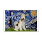 Starry / Fox Terrier (W) 20x12 Wall Decal