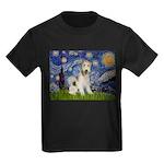 Starry / Fox Terrier (W) Kids Dark T-Shirt