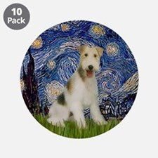 "Starry / Fox Terrier (W) 3.5"" Button (10 pack)"