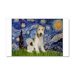 Starry / Fox Terrier (W) Car Magnet 20 x 12