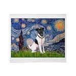 Starry / Fox Terrier (#1) Throw Blanket