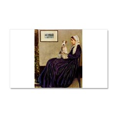 Mom's Wire Fox Terrier Car Magnet 20 x 12