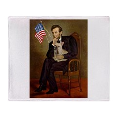 Lincoln/French Bulldog Throw Blanket