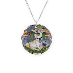 Lilies / Fr Bulldog (f) Necklace