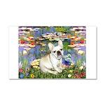 Lilies / Fr Bulldog (f) Car Magnet 20 x 12