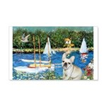 Sailboats / Fr Bulldog(f) 20x12 Wall Decal