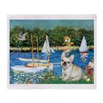 Sailboats / Fr Bulldog(f) Throw Blanket