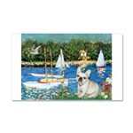 Sailboats / Fr Bulldog(f) Car Magnet 20 x 12