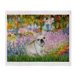 Garden / Fr Bulldog(f) Throw Blanket