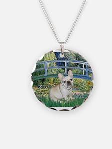 Bridge / Fr Bulldog (f) Necklace Circle Charm