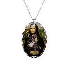 Mona / Fr Bulldog(brin) Necklace Oval Charm