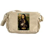 Mona / Fr Bulldog(brin) Messenger Bag