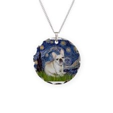 Starry / Fr Bulldog (f) Necklace Circle Charm