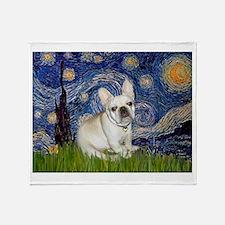 Starry / Fr Bulldog (f) Throw Blanket