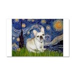 Starry / Fr Bulldog (f) Car Magnet 20 x 12