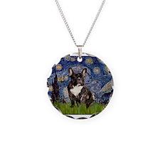 Starry / Fr Bulldog(brin) Necklace Circle Charm