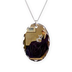 Whistlers / Fr Bull (f) Necklace Oval Charm