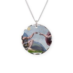 Creation / G-Shep Necklace Circle Charm