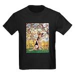 Spring & German Shepherd Kids Dark T-Shirt