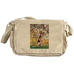 Spring & German Shepherd Messenger Bag