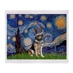 Starry / German Shepherd 10 Throw Blanket