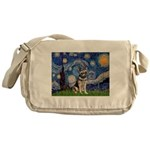 Starry / German Shepherd 10 Messenger Bag