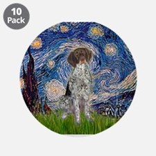 "Starry Night /German Short 3.5"" Button (10 pack)"