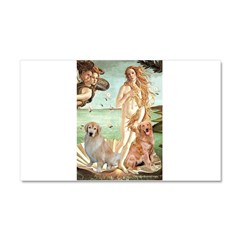 Venus / Two Golden Retrievers Car Magnet 20 x 12