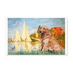 Sailboats (#2) & Golden 20x12 Wall Decal
