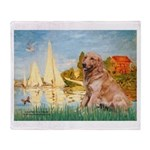 Sailboats (#2) & Golden Throw Blanket
