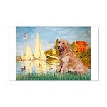 Sailboats (#2) & Golden Car Magnet 20 x 12