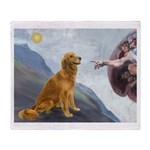 Creation (#2) & Golden Throw Blanket