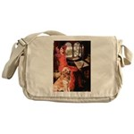 The Lady's Golden Messenger Bag
