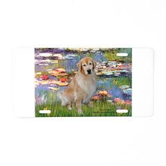 Lilies & Golden Aluminum License Plate