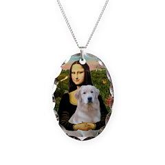 Mona's Light Golden (O) Necklace Oval Charm