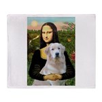 Mona's Light Golden (O) Throw Blanket