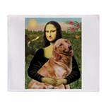 Mona's Golden Retriever Throw Blanket