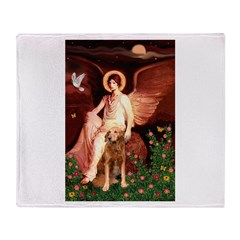 Angel & Golden Retrieve Throw Blanket