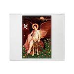 Angel & Golden Retrieve Throw Blanket