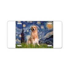Starry Night / Golden Aluminum License Plate