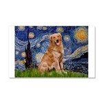 Starry Night Golden Car Magnet 20 x 12