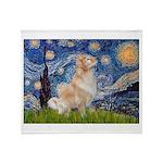 Starry Night & Golden Throw Blanket
