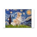 Starry Night & Golden Car Magnet 20 x 12