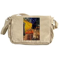 Cafe & Golden Messenger Bag