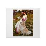 Windflowers / Golden Throw Blanket